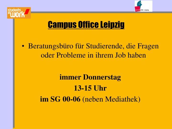 Beratungsbüro für Studierende, die Fragen oder Probleme in ihrem Job haben
