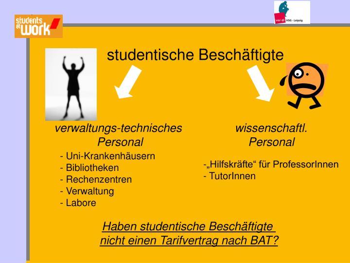 studentische Beschäftigte