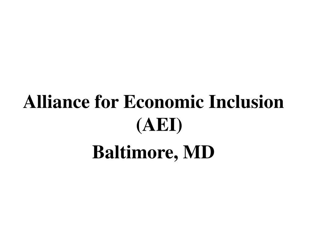 Alliance for Economic Inclusion (AEI)