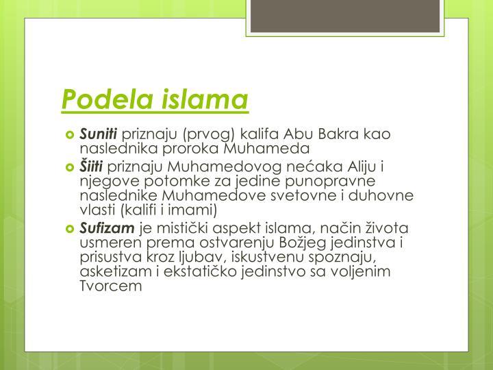 Podela islama