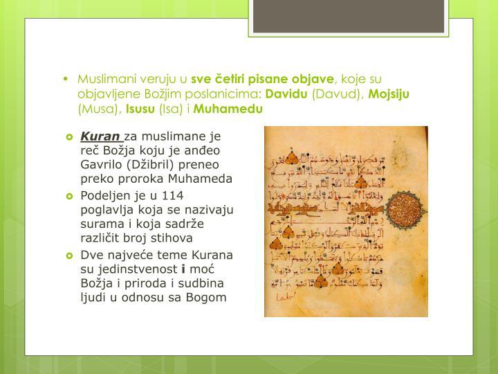 Muslimani veruju u