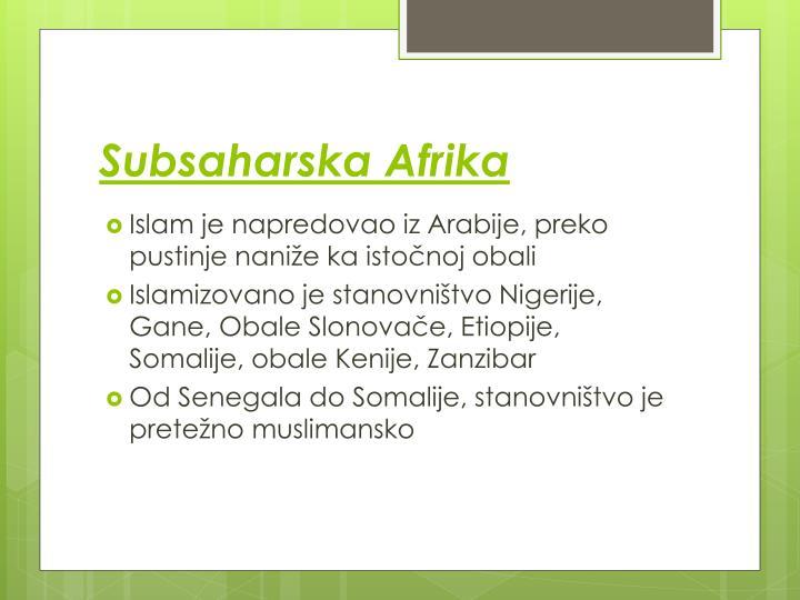 Subsaharska Afrika