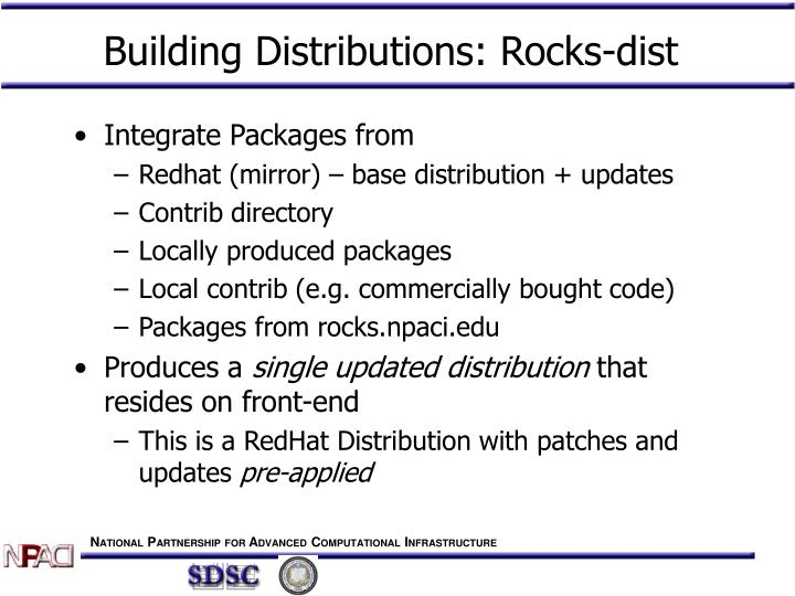 Building Distributions: Rocks-dist