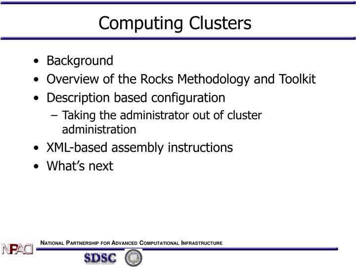 Computing clusters