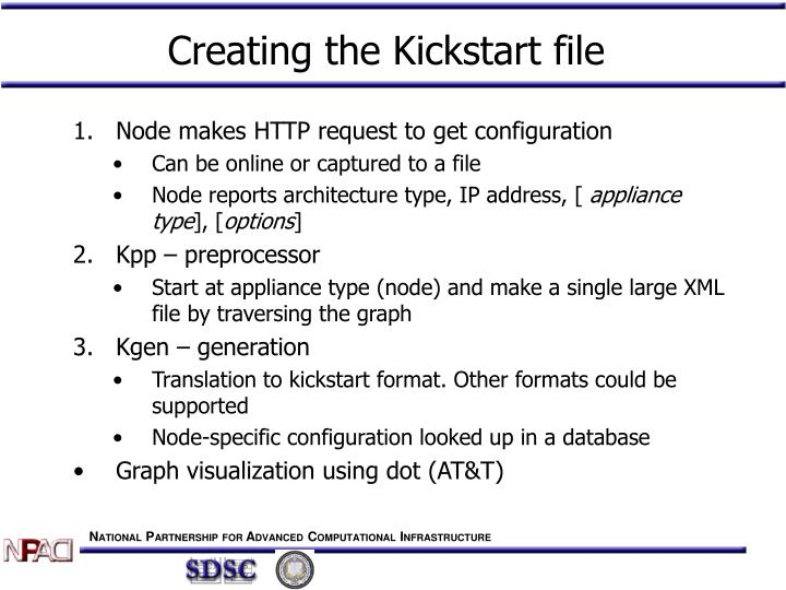 Creating the Kickstart file