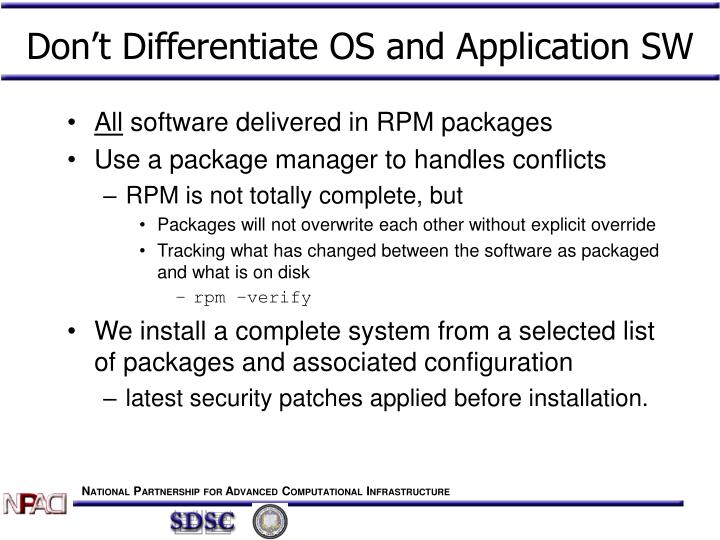 Don't Differentiate OS and Application SW