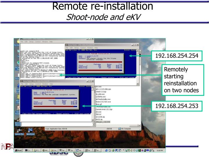 Remote re-installation