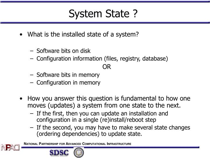 System State ?