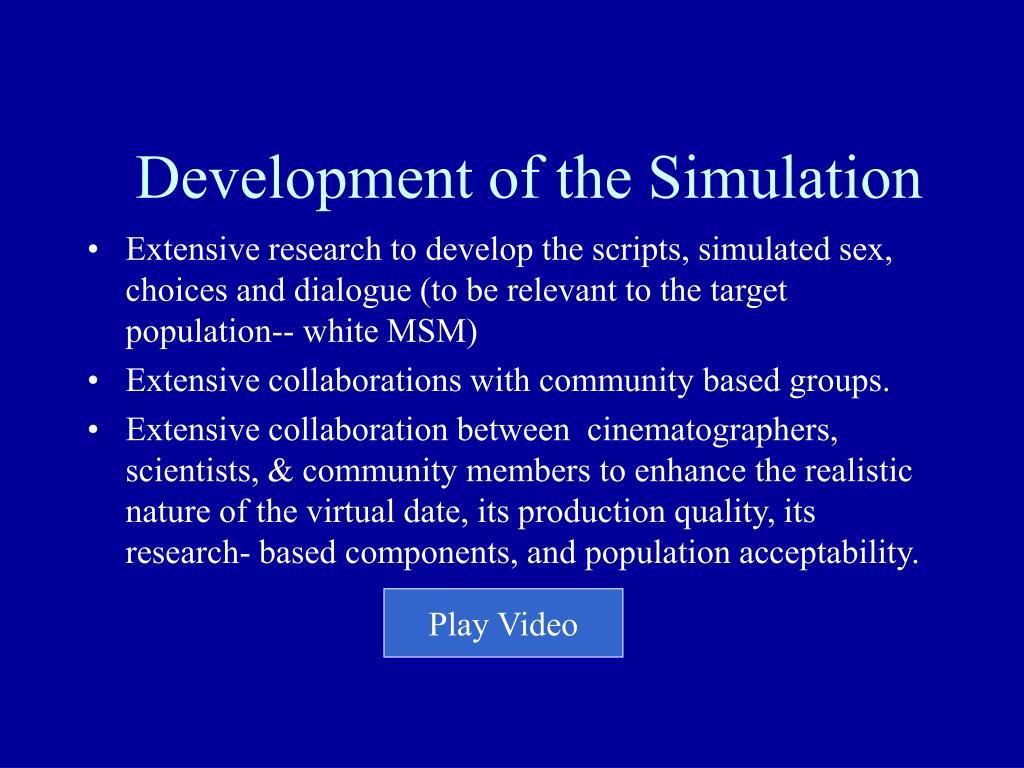 Development of the Simulation