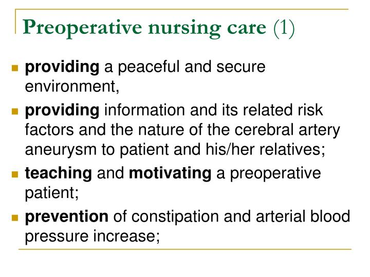 Preoperative nursing care