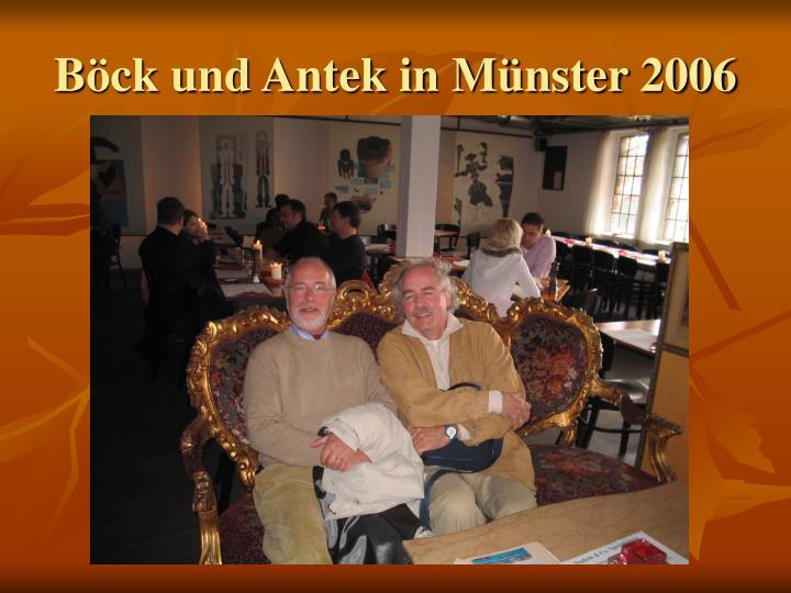 Böck und Antek in Münster 2006
