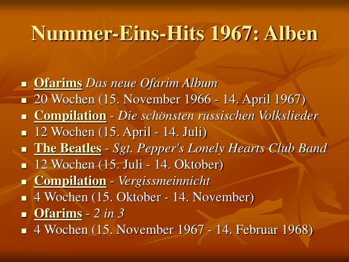 Nummer-Eins-Hits 1967: Alben
