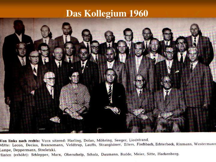 Das Kollegium 1960