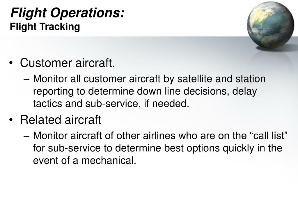 Flight Operations: