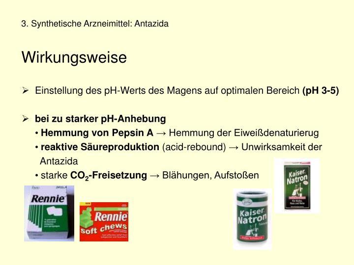 3. Synthetische Arzneimittel: Antazida