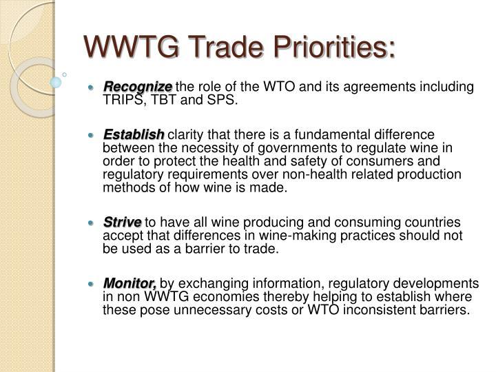 WWTG Trade Priorities: