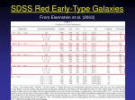 sdss red early type galaxies1