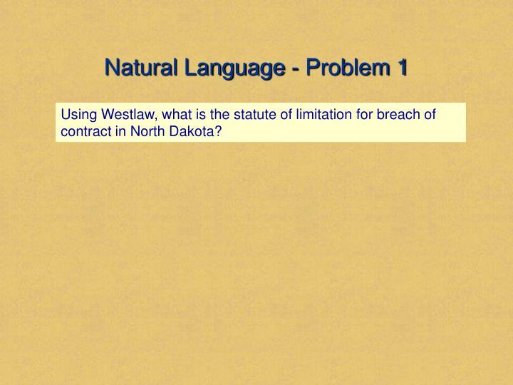 Natural Language - Problem 1