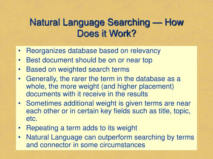 Natural Language Searching — How Does it Work?