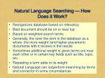 natural language searching how does it work
