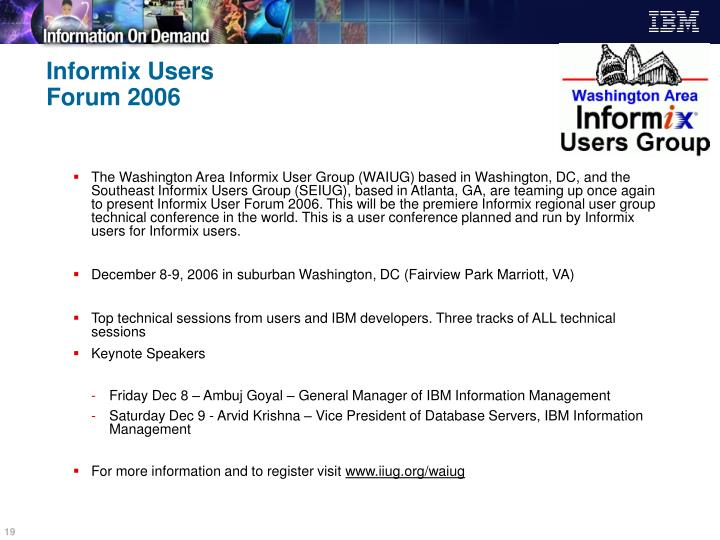 Informix Users