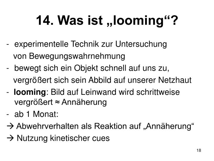"14. Was ist ""looming""?"