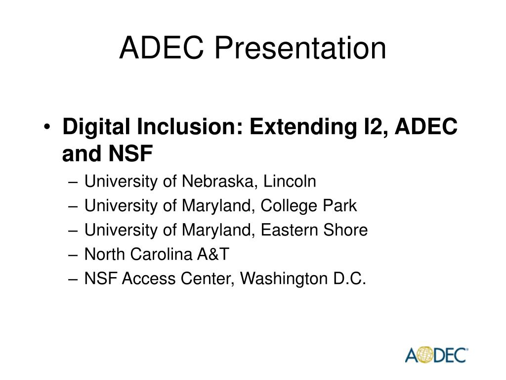 ADEC Presentation