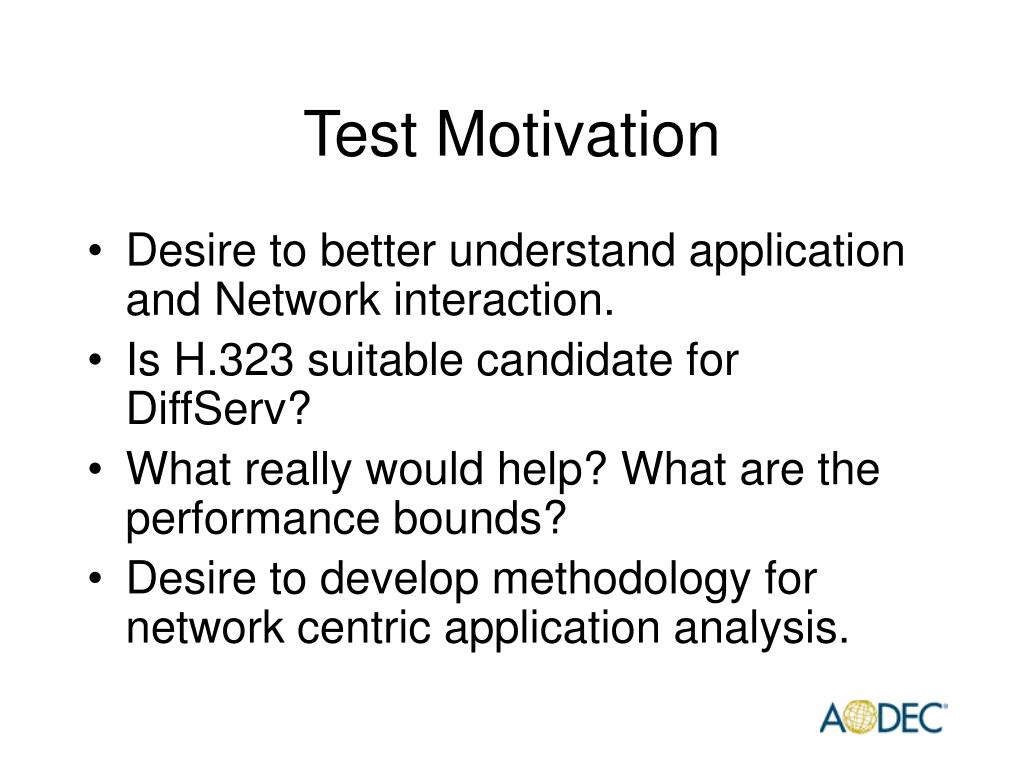 Test Motivation