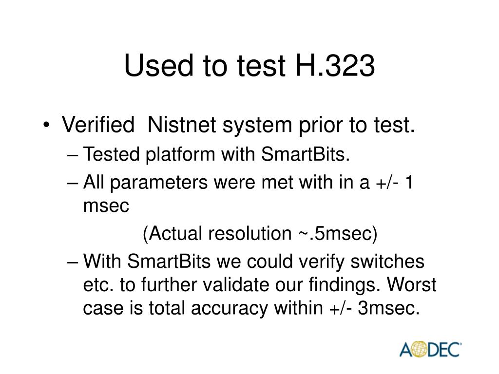 Used to test H.323