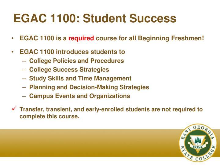 EGAC 1100: Student Success
