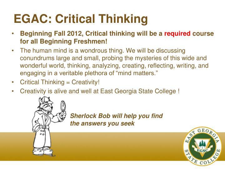 EGAC: Critical Thinking