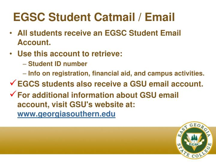 EGSC Student Catmail / Email