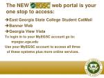 the new web portal is your one stop to access