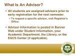 what is an advisor1