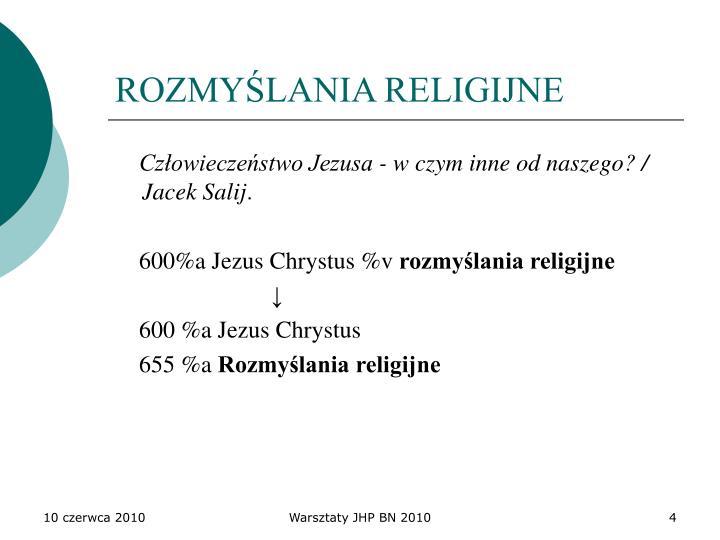 ROZMYŚLANIA RELIGIJNE