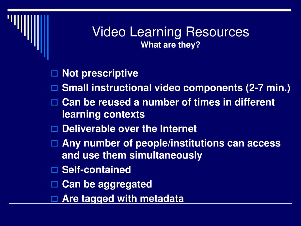 Video Learning Resources