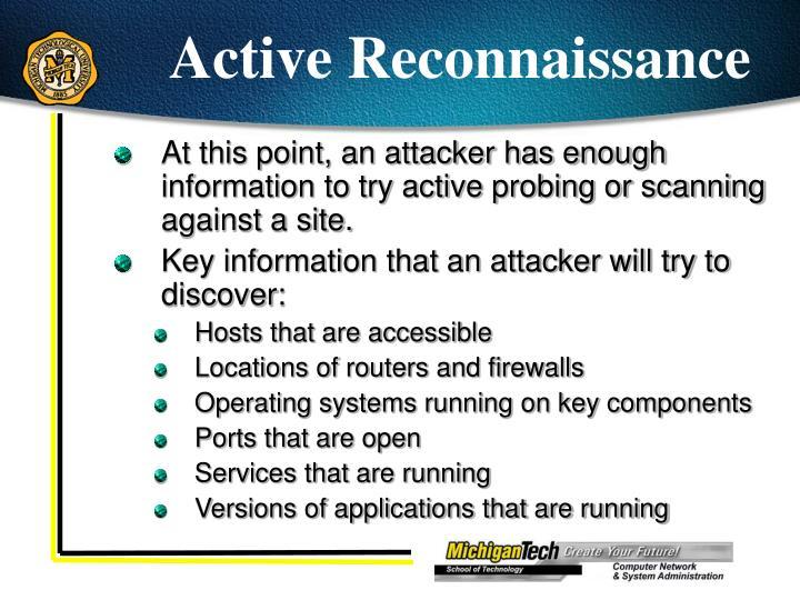 Active Reconnaissance