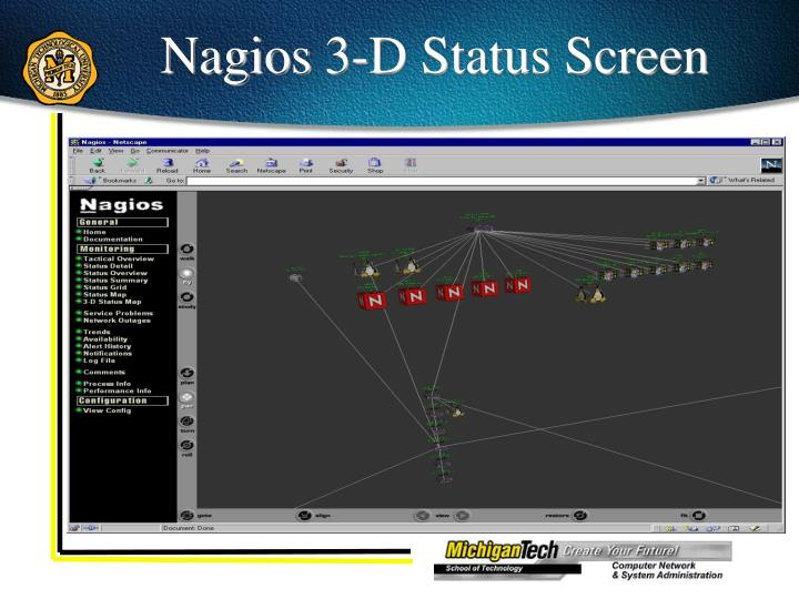 Nagios 3-D Status Screen