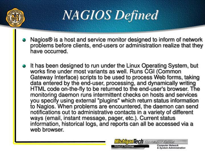 NAGIOS Defined