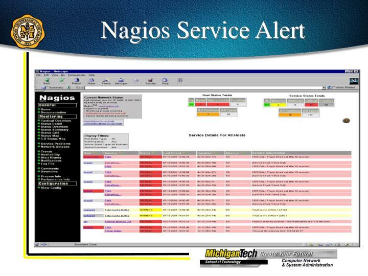 Nagios Service Alert