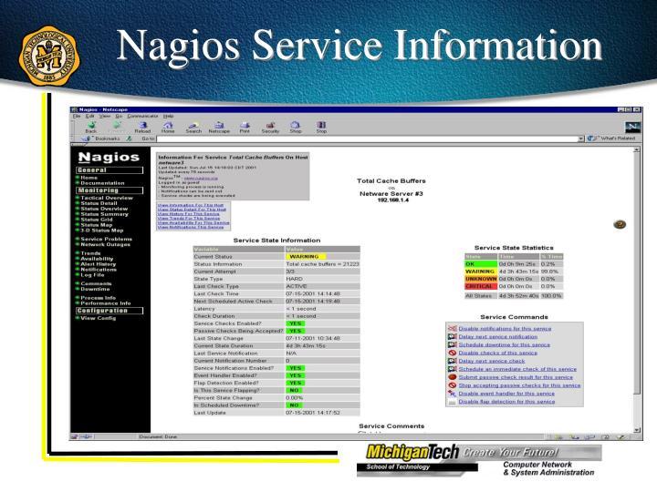 Nagios Service Information