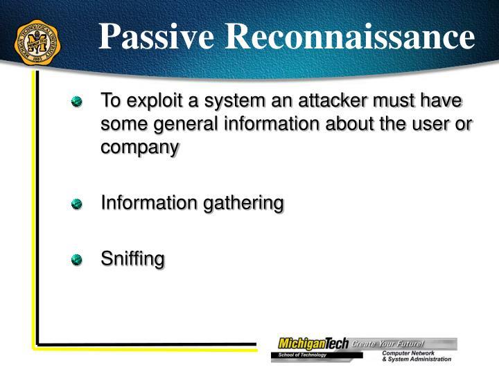 Passive Reconnaissance