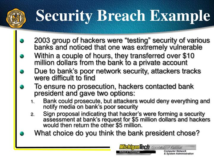 Security Breach Example