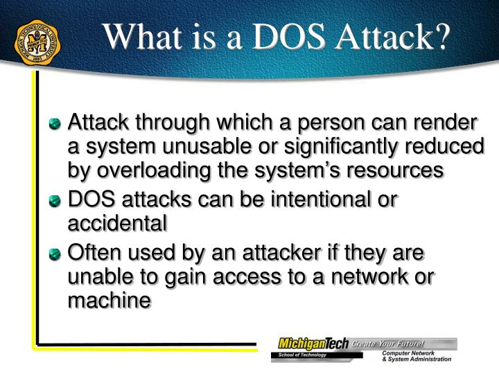 What is a DOS Attack?