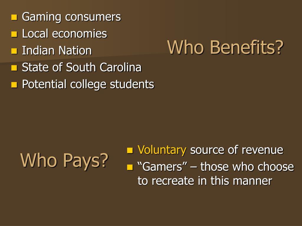 Who Benefits?