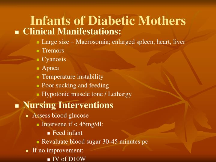 Infants of Diabetic Mothers