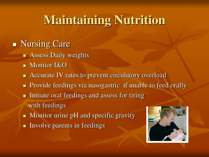 Maintaining Nutrition
