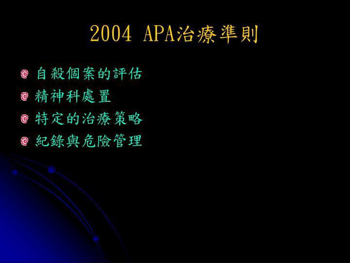 2004 APA