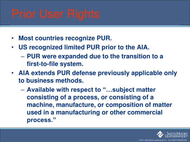 Prior User Rights
