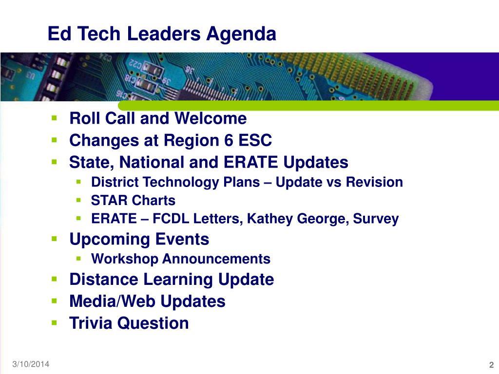 Ed Tech Leaders Agenda